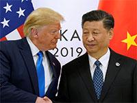"""שי ג'ינפינג, נשיא סין, ודונלד טראמפ, נשיא ארה""""ב / צילום: KEVIN LAMARQUE, רויטרס"""