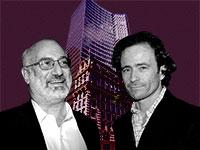 """יעקב שימל, אדוארדו אלשטיין ובניין HSBC בניו יורק / צילומים: מצגת החברה, תמר מצפי, יח""""צ, עיבוד תמונה: טלי בוגדנובסקי"""