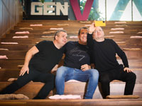 גיל שויד, איל וולדמן ואבישי אברהמי / צילום: שלומי יוסף