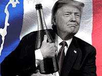 הנשיא דונלד טראמפ העלה על הכוונת את השמפניה / צילום: שאטרסטוק