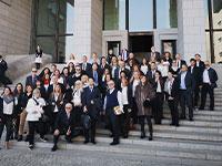 חברות וחברי המשלחת בבית המשפט העליון של יפן / צילום: פרטי