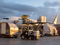 פריקת סחורה בשדה תעופה / צילום: UPS