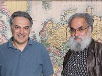 פרופ' סנג'איי סוברהמניאם ופרופ' קנת' פומרנץ / צילום: ענבל מרמרי, Shutterstock