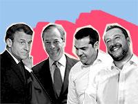 מתאו סלביני, אלכסיס ציפראס, נייג'ל פאראג', עמנואל מקרון / צילום: רויטרס עיבוד: טלי בוגדנובסקי
