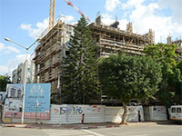 """פרויקט תמ""""א 38, רחוב לוי אשכול, פינת התמר, קרית אונו / צילום: איל יצהר, גלובס"""