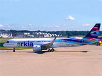 """מטוס האיירבס neo 321 LR של ארקיע - """"עפרה חזה""""  / צילום: דוברות ארקיע,"""