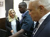 """שרה נתניהו, רעיית ראש הממשלה בבית המשפט לקראת הודאה / צילום: אמיר סלמן, """"הארץ"""""""