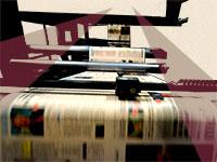 """הדפסת עיתון """"גלובס"""" / צילום: איל יצהר, עיבוד: טלי בוגדנובסקי"""