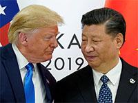 """נשיאי סין וארה""""ב, שי וטראמפ, בוועידת G20 / צילום: רויטרס, Kevin Lamarque"""