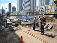 עבודות הרכבת הקלה בתל אביב בשנה שעברה / צילום: איל יצהר, גלובס