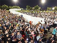 מחיצת ההפרדה בהופעה בעפולה / צילום: שלומי גבאי, וואלה!  NEWS