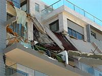 אירוע קריסת המרפסות בפרויקט של החברה בחדרה / צילום: גיל ארבל