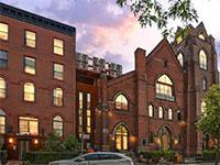 """הכנסייה בשכונת וויליאמסבורג שבברוקלין שהוסבה לבניין מגורים. חלק מהנכס שישועבד ע""""י ספנסר / צילום: מצגת החברה"""