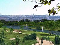 הדמיה של הפארק בנחל קישון  / צילום: רשות נחל קישון
