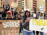 מפגינים ברחובות קראקס / צילום: רויטרס