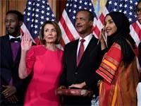"""אילחאן עומר וננסי פלוסי. חיים קלים לא יהיו לנשיא ארה""""ב / צילום: רויטרס"""