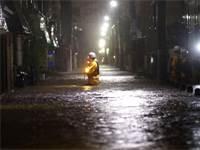 סופת הטייפון הגיביס ביפן / צילום: רויטרס