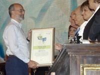 פרופסור עדי שמיר בקבלת פרס ישראל / צילום: רפי קוץ