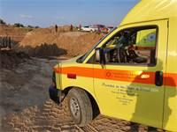 """תאונה באתר בנייה בתחומי המועצה האזורית חוף אשקלון / צילום: מד""""א"""