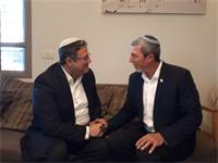 """יו""""ר הבית היהודי רפי פרץ ויו""""ר עוצמה יהודית איתמר בן גביר / צילום: יח""""צ"""
