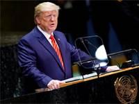 """דונלד טראמפ נואם בעצרת האו""""ם / צילום: קרלו אלגרי, רויטרס"""