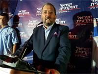 אהוד ברק באירוע של ישראל דמוקרטית בתל אביב / צילום: אמיר מאירי