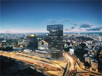 מרכז שרונה בכפר סבא / הדמיה: HQ Architects