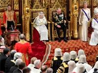 נאום מלכת בריטניה אליזבת השנייה בפרלמנט / צילום: REUTERS/Toby Melville