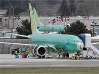 מטוס בואינג 737 מקס במפעל הייצור ברנטון, וושינגטון / צילום: David Ryder, רויטרס