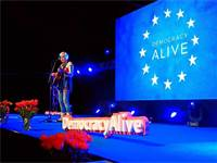 מופע בפסטיבל Democracy Alive / צילום: מתוך הפייסבוק של התנועה האירופית