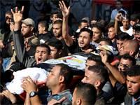 הלוויתו של בכיר הג'יהאד האיסלמי בעזה / צילום: Mohammed Salem, רויטרס