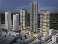 הדמיית מתחם הבורסה / קרדיט להדמייה: ישר אדריכלים ודירה להשכיר.