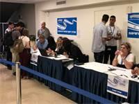 עמדת רישום לבחירות / צילום: טל שניידר, גלובס