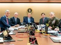 """טראמפ ובכירים צופים בחיסול אל בגדאדי / צילום: הבית הלבן, יח""""צ"""