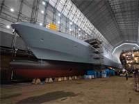 """ספינת המגן הראשונה מסוג סער 6, ״אח״י מגן״ / צילום: דובר צה""""ל"""
