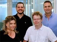 """תמונת מייסדי Syte: משמאל למעלה, בכיוון השעון: עידן פינטו, סמנכ""""ל תפעול, עופר פרימן, מנכ""""ל, ד""""ר הלגה ווס, סמנכ״ל טכנולוגיות וליהיא פינטו פרימן, סמנכ""""לית שיווק / צילום: אריאל גייפמן, יח""""צ"""