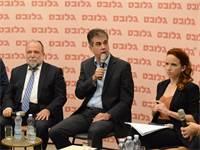 סתיו שפיר, השר אלי כהן וסגן השר איציק כהן בעימות הכלכלי של גלובס  / צילום: איל יצהר, גלובס