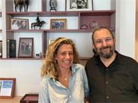 אהוד ברק ונעה רוטמן / צילום: קמפיין אהוד ברק