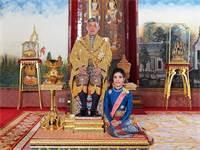מלך תאילנד ובת הלוויה שהודחה מתפקידה / צילום: Royal Household Bureau, רויטרס