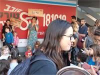 הפגנה נגד שימוש בפלסטיק, היום בכיכר רבין / צילום: מעיין קרשן