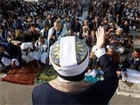 תפילה של חות'ים בתימן / צילום: REUTERS/Mohamed al-Sayaghi