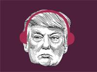 דונלד טראמפ, פודקאסט לשבת / עיבוד תמונה: אפרת לוי / איור: אפרת לוי, גלובס