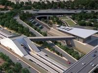 """תחנת רמלה דרום המתכננת להיבנות במסגרת הפרויקט / צילום: אגף הביצוע של רכבת ישראל/New age media, יח""""צ"""