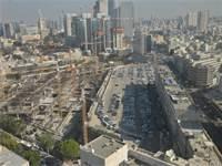 פרויקט גינדי באזור השוק הסיטונאי, בתחילת העבודות / צילום: תמר מצפי