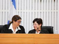 השופטת בדימוס מרים נאור והנשיאה אסתר חיות/ צילום: נועם מושקוביץ', וואלה!