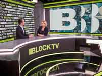 יעל לביא ואשר ווסטרופ-אוונס באולפן BLOCKTV / צילום: BLOCKTV
