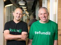 """אורי לוין, מייסד ויו""""ר. זיו תירוש, מייסד ומנכ""""ל, Refundit / צילום: יח""""צ"""