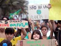 הפגנה בברזיל. /  צילום: רויטרס
