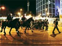 פעילות משטרה בעת מחאת יוצאי אתיופיה / צילום: רויטרס