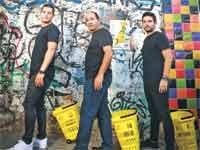 אוהד סנדלר, רמי לוי ואדם פרידלר./ צילום: ענבל מרמרי